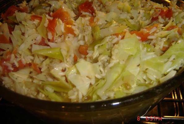 Rice And Cabbage Casserole Vegweb Com The World S