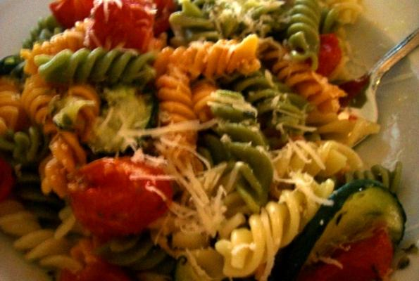 ROASTED CHERRY TOMATOES AND GREENS PASTA CIMG5483