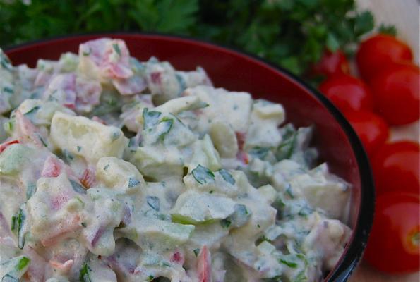 Creamy Vegan Potato Salad Recipe | VegWeb.com, The World's Largest ...