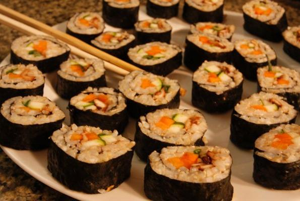 how to cook sushi with brown rice