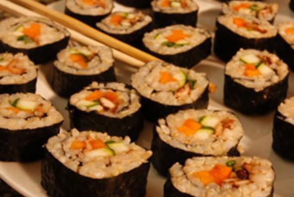 Vegetarian Brown Rice Sushi Rolls Recipes — Dishmaps