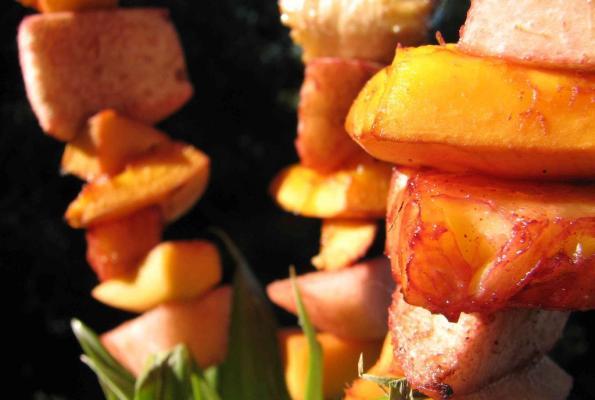 Tropical Fruit Kebabs