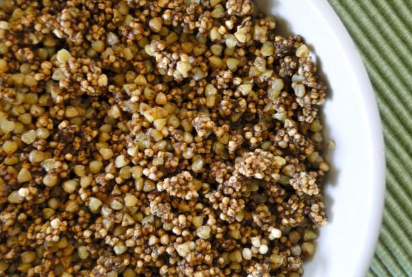 buckwheat quinoa granola with stevia prev next