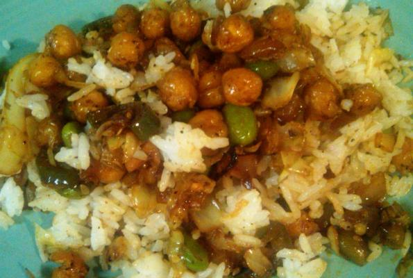 Spicy Asian garbanzo and soy bean stir fry   VegWeb.com, The World's ...