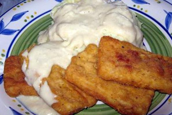 Southern Fried Tofu and Milk Gravy | VegWeb.com, The World's Largest ...