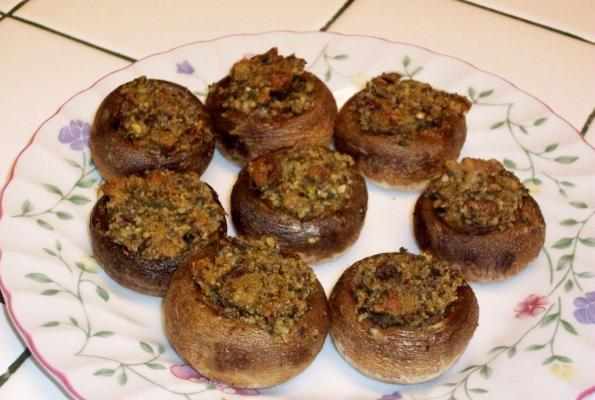 Easy Stuffed Mushrooms | VegWeb.com, The World's Largest Collection of ...
