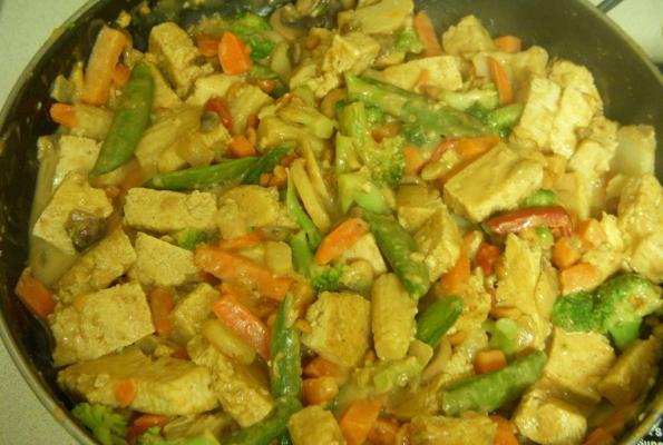 Thai Tofu Stir-Fry with Spicy Peanut Sauce   VegWeb.com, The World's ...