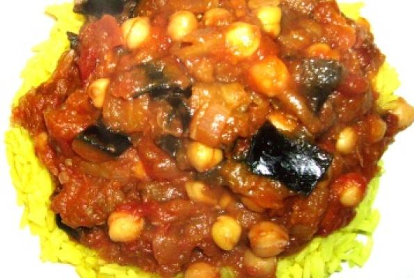 Spicy Chickpea, Eggplant, and Pumpkin Stew | VegWeb.com, The World's ...