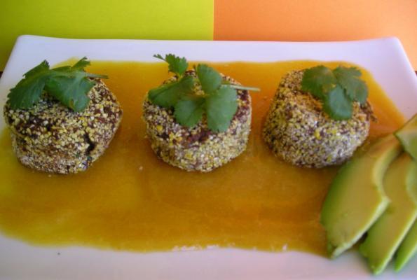Black Bean-Chipotle Cakes with Mango Sauce | VegWeb.com, The World's ...